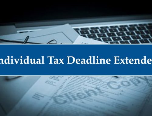 Tax Deadline Extended for 2020 Individual Tax Returns